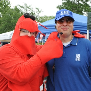 Crawfish Mambo Festival Coach Slessinger and Association President Glorioso