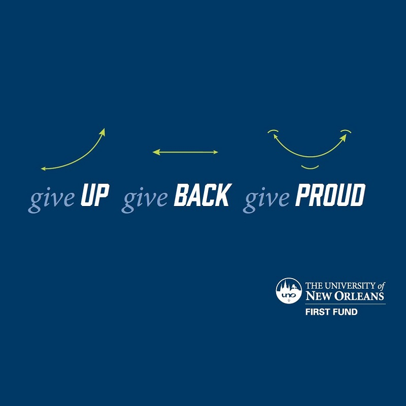 Give Up. Give Back. Give Proud